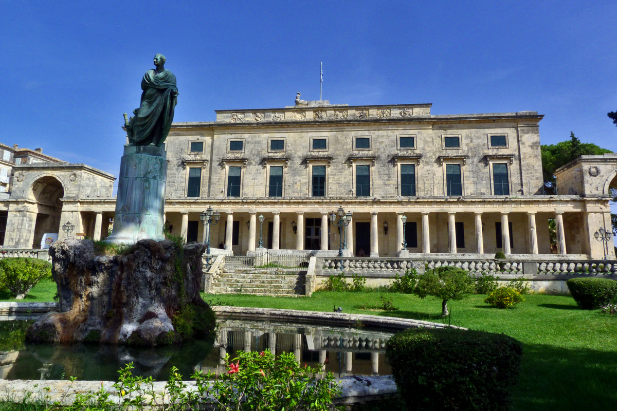 Corfu Town; Palace of St. George + St. Michael