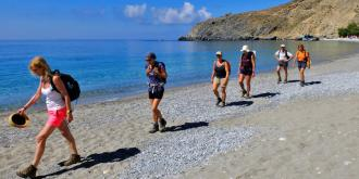 Hiking along the Libyan Sea